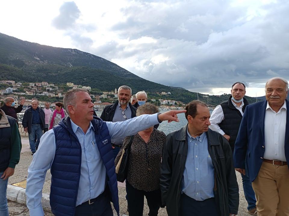 ΣΥΡΙΖΑ: Στην Ιθάκη ο Χρήστος Σπίρτζης για την εκτίμηση των ζημιών (εικόνες)